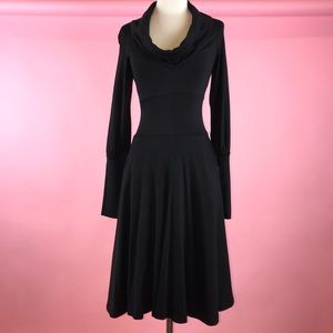 Diane Von Furstenberg 100% Wool Black Dress